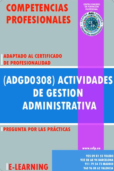 (ADGD0308) ACTIVIDADES DE GESTION ADMINISTRATIVA